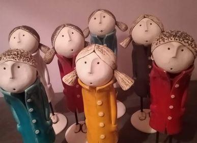 Sculptures / statuettes / miniatures - Les élégantes - BLEU CALADE