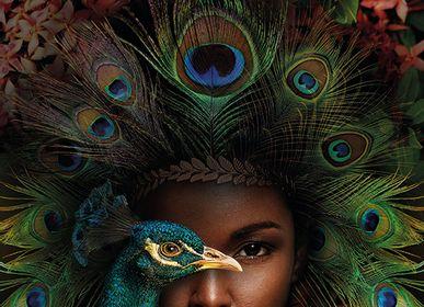 Décoration murale - MONDiART, AluArt, Peacock Woman - MONDIART ART & DECORATIONS