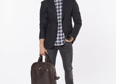 Bags / totes - Brown leather Briefcase & Helmet bag - DALZOTTO