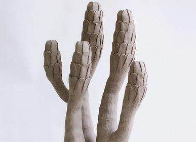Sculpture - Sculpture Corail Gris Ecailles - ATELIERNOVO