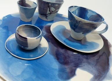"Platter and bowls - ""ACQUARELLO"" collection - POTOMAK STUDIO"
