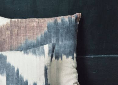 Fabric cushions - Pillow IKAT NARCISO, Ash - COUTUME