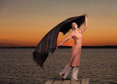Plaids - Couvre-lit de chameau rayé couleur - ERDENET CASHMERE