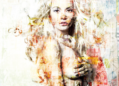 Décoration murale - MONDiART, AluArt, Texted Girl - MONDIART ART & DECORATIONS