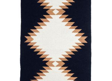 Design - TAPIS en laine SIERRA, Camel - COUTUME