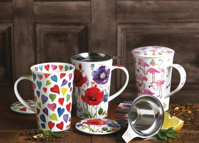 Mugs - Warm Hearts, Wild Garden and Flamboyance on Shetland and Shetland Infuser shapes - DUNOON