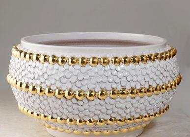 Ceramic - Ortensia and Bottoni centerpiece - CERAMICA ND DOLFI