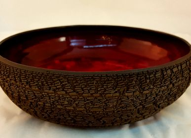 Platter and bowls - Salad bowl - collection Earth, bark of the world - MARION RICHAUME