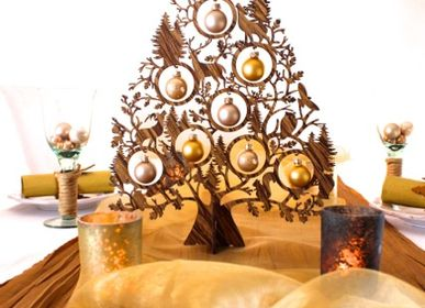 Christmas decoration - Christmas tree wood brown - KOELNSCHAETZE