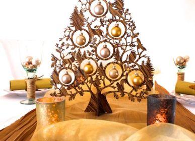 Décorations de Noël - Christmas tree wood brown - KOELNSCHAETZE