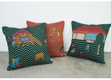 Fabric cushions - SNIP SNAP | cushion cover  - YURI HIMURO