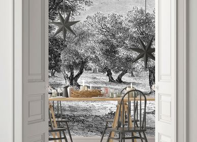Tapestries - Panoramic Engraving Wallpaper - Les Oliviers - CIMENT FACTORY