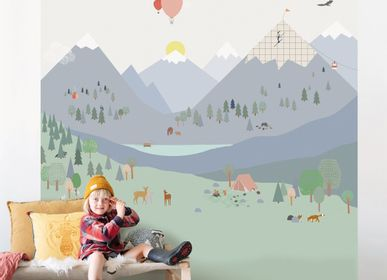 Children's bedrooms - NEW ! FRESQUE DE PAPIER PEINT MOUNTAINS - MIMI'LOU