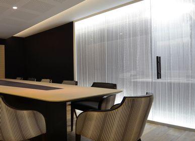 Other wall decoration - Inclusion textile Plissé cascade blanc B-005 - DACRYL