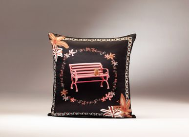 Fabric cushions - LOVE GARDEN silk cushion - MY FRIEND PACO