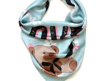Scarves - LOVE silk scarf - MY FRIEND PACO