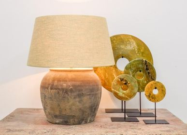Pottery - Grey Pot Table Lamp - THE SILK ROAD COLLECTION