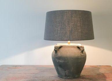 Lampes de table - Lampe à pot grise - THE SILK ROAD COLLECTION