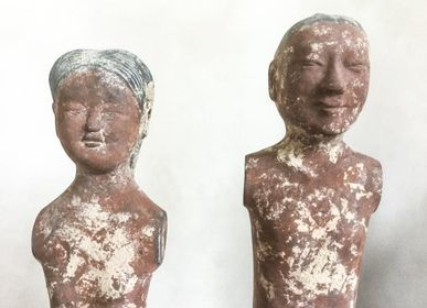 Sculptures / statuettes / miniatures - Han dynasty stick figures - THE SILK ROAD COLLECTION