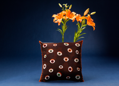 Fabric cushions - EYE silk cushion - MY FRIEND PACO