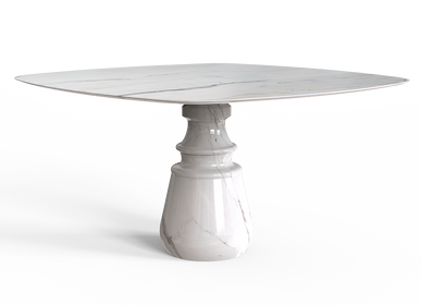 Tables - PIETRA SQUARE Dining Table - BOCA DO LOBO