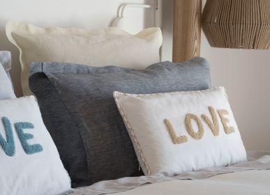 Cushions - Embroidered Cushion Cover LOVE - FEBRONIE
