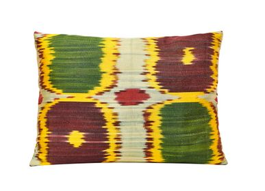 Comforters and pillows - Primrose Handwoven Silk Ikat Cushion - HERITAGE GENEVE
