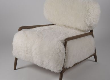 Armchairs - YETI armchair short fur - JOE SAYEGH PARIS