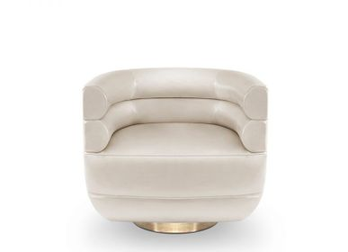 Office seating - Loren Armchair - CAFFE LATTE