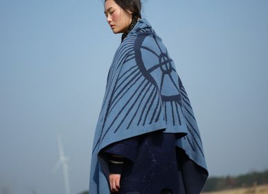 Scarves - Knitted jacquard cashmere shawl - SANDRIVER MONGOLIAN CASHMERE