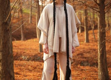 Homewear - NATUREL un-dyed cashmere pants - SANDRIVER CASHMERE