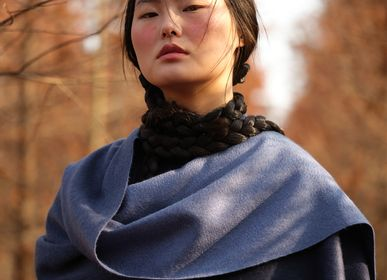 Scarves - Double-sided ripple cashmere shawl - SANDRIVER CASHMERE