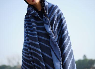 Scarves - Jacquard cashmere blanket - SANDRIVER MONGOLIAN CASHMERE