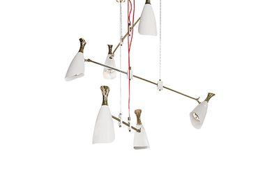 Ceiling lights - Duke Suspension Lamp - CAFFE LATTE
