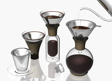 Design objects - Sphère:  Wine Decanter and Coffee Brewer - SILODESIGN