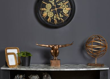 Clocks - CLOCK MECHANISM BLACK AND GOLD - EMDE