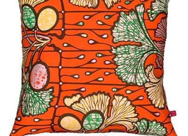 Coussins textile - COUSSIN FASHION FLEURS ORANGE - FASHION PILLOWS BY MÜLLERSCHMIDT