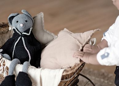 Soft toy - Atticus - crochet mouse - LEGGYBUDDY