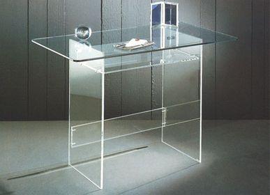 Furniture and storage - PICCOLO plexi and glass desk - DAVID LANGE