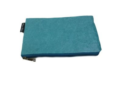 Clutches - Women's eco-friendly kraft paper pouch - Blue - AUCTOR