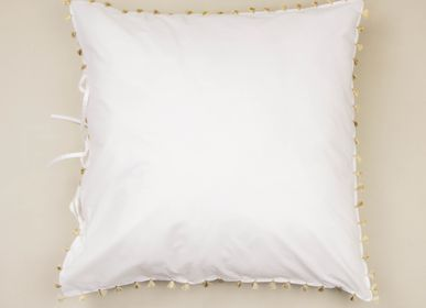 Bed linens - White cotton bed linen with pompons - MIA ZIA