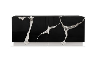 Sideboards - LAPIAZ BLACK SILVER Sideboard - BOCA DO LOBO