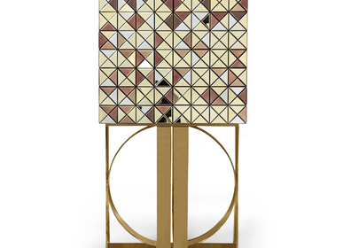 Storage box - PIXEL ANODIZED GOLD LEGS Cabinet - BOCA DO LOBO
