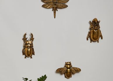 Objets de décoration - LOT DE 2 INSECTS VOLANTS DORÉ - EMDE