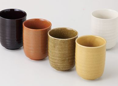 Ceramic - Japanese Cups by 2 or by 5 - SHIROTSUKI / AKAZUKI JAPON
