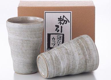 Céramique - Tasses japonaises par 2 ou par 5 - SHIROTSUKI / AKAZUKI JAPON