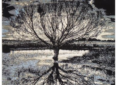 Design carpets - Mirror tree, ArtWork, original handknotted carpet - CREATIVE DESIGNS BY MICHELE