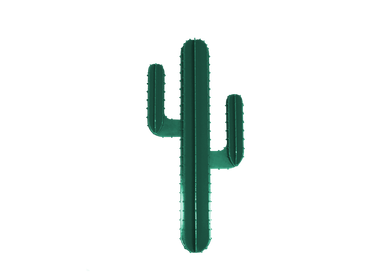 Decorative objects - DARK GREEN WALL CACTUS - LP DESIGN