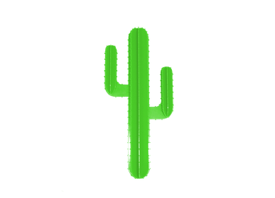 Decorative objects - FLUOR GREEN WALL CACTUS - LP DESIGN