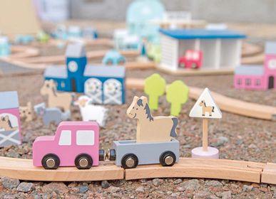 Jouets enfants - Circuit voitures en bois - JABADABADO